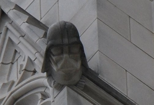 frikworld darth vader gargoyle in the washington national cathedral