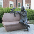 Kermit and Jim Henson statue, University of Maryland