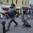 Desperate Dan and Dawg statue, Dundee, Scotland