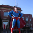 Superman statue on Metropolis, Illinois