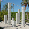 Magic square sculpture, Eaton Fine Art Gallery in West Palm Beach, Florida