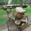 Peanuts characters in Rice Park, St. Paul