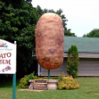 Giant potato in Potato museum, O
