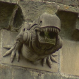 Alien gargoyle in Paisley Abbey, Glasgow
